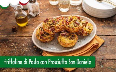 Frittatine di pasta con San Daniele DOP
