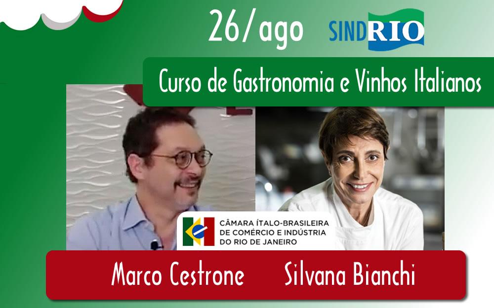Curso de Gastronomia e Vinhos Italianos no SINDRIO