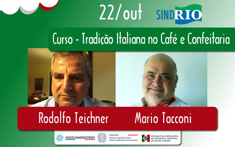 22/OUT – CURSO TRADIÇÃO ITALIANA NO CAFÉ E CONFEITARIA