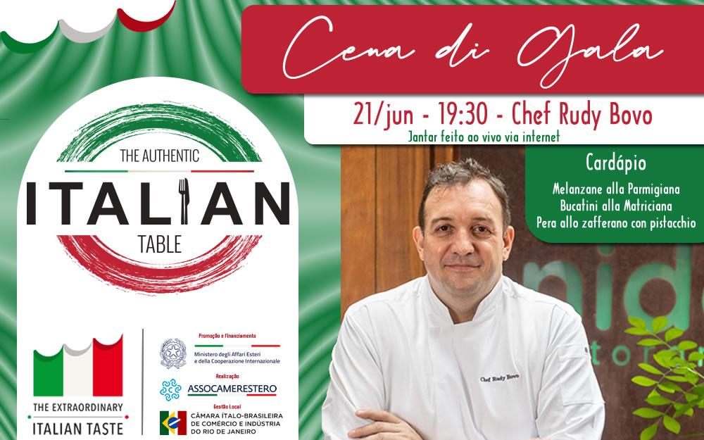 21/JUN – JANTAR DE GALA – THE AUTHENTIC ITALIAN TABLE