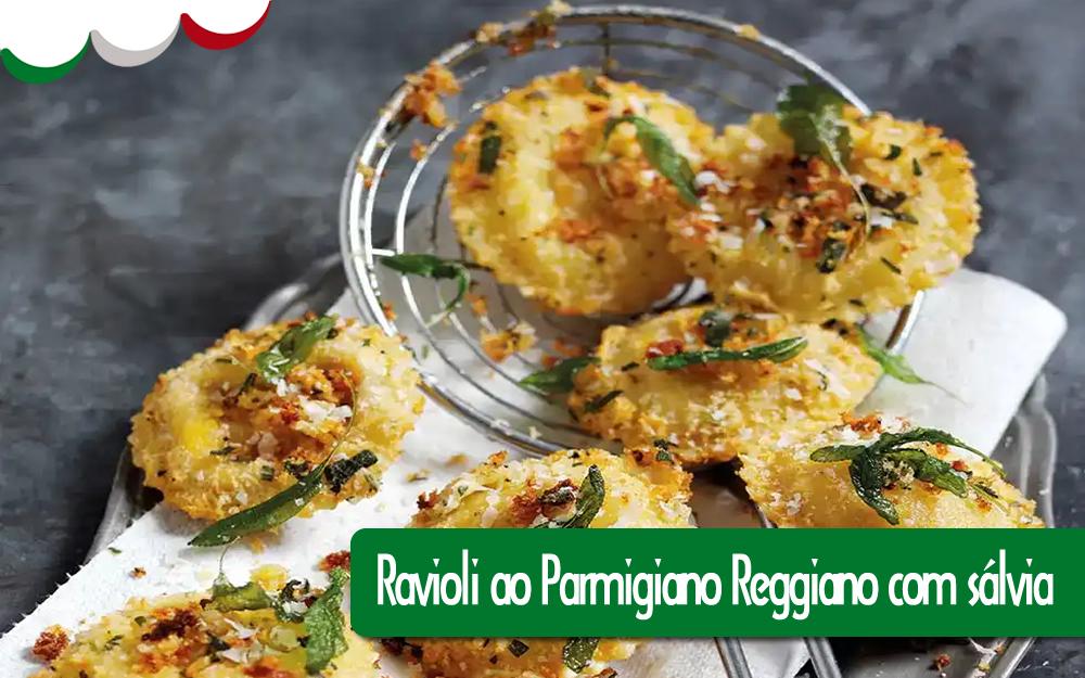 Ravioli ao Parmigiano Reggiano com sálvia