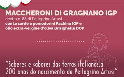 V Semana da Cozinha Italiana – Artusi – Maccheroni con le Sarde